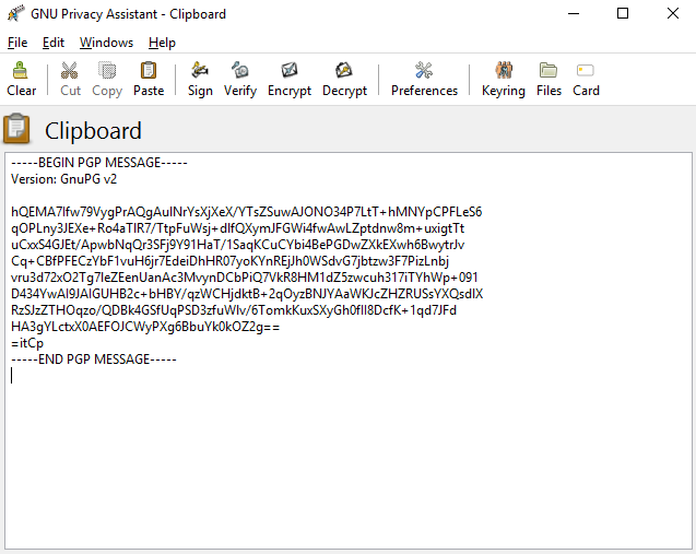 pgp Message